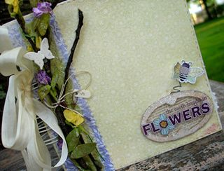 Vintage wisteria closeup