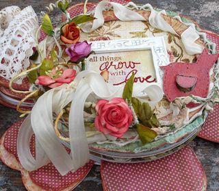 Flower book closeup