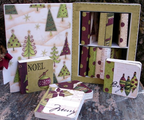 BE Danelle box with Debbie Mumm Christmas papers