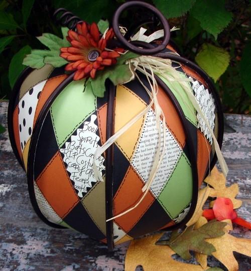 Altered metal pumpkin